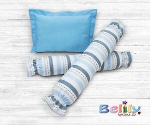 BOLSTER-PILLOW-SET-BABY-INFANT-SUPER-SOFT-HIGH-QUALITY-TRAIN-DESIGN