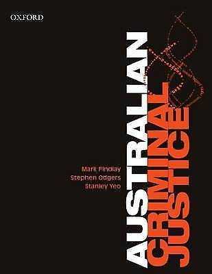 1 of 1 - Australian Criminal Justice by Stanley Yeo, Professor Mark Findlay, Stephen Odge