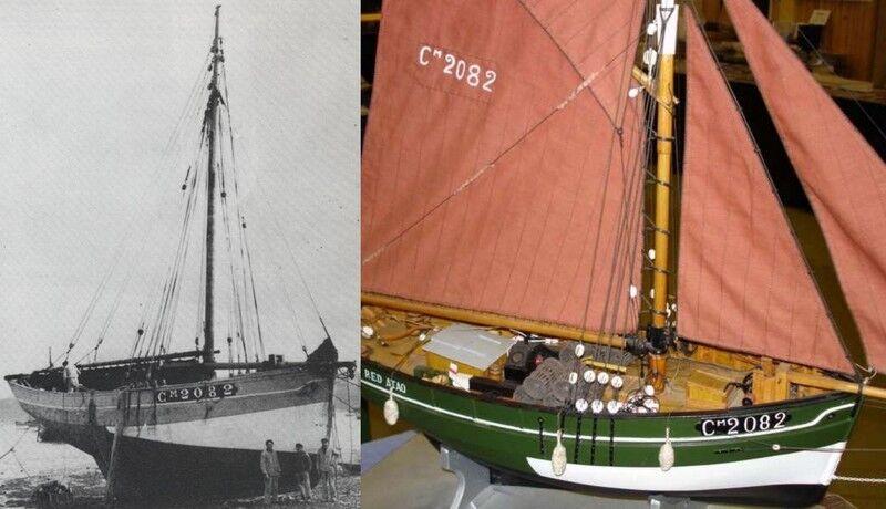 Red Atao. aragosta pescatori da Camaret. sloop. 1920. modello edifici 1:20