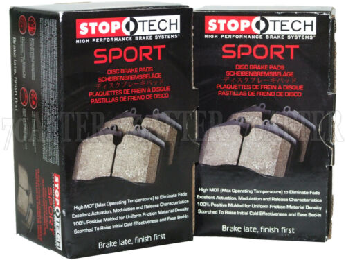 Stoptech Sport Brake Pads Front /& Rear Set for Vibe Matrix Corolla