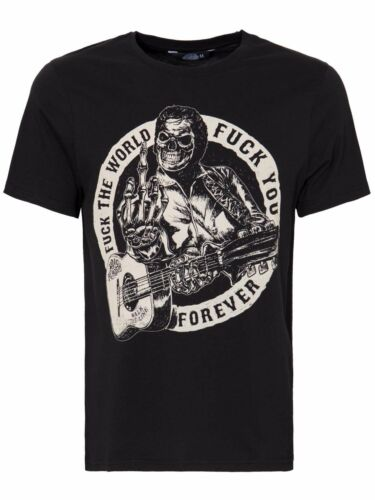 King Kerosin T-Shirt FTW F*ck The World Rockabilly Rocknroll Schwarz  5016