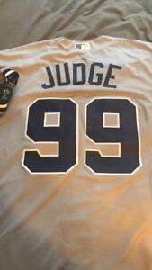 more photos 612ce 8a552 Details about Aaron Judge New York Yankees Jersey Majestic Mens Large Cool  Base