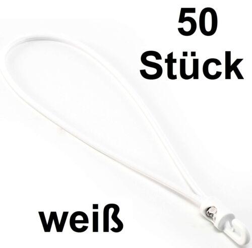 GOMMA 50x-Fascette per cavi 27cm x 4mm BIANCA serraggio fixe serraggio GOMMA spannfix Expander