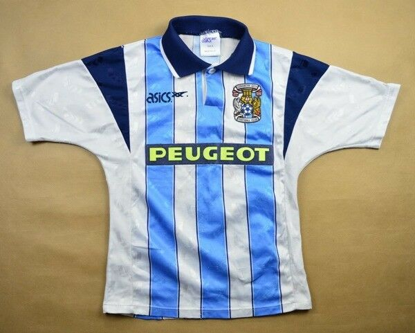 Asics 1991-92 COVENTRY CITY KOSZULKA S. BOYS Shirt Jersey Kit