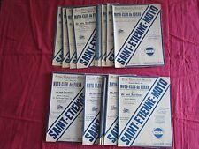 27 numéros revue motocycliste moto-club du Furan  Saint-etienne 1934-1938