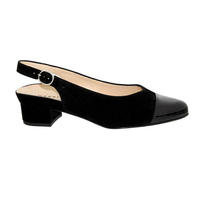 Buffalo London Plateau Pumps Lack schwarz mit Absatz in Schlangenoptik