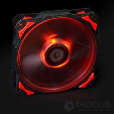 Red LED 120X25mm PWM Fan With De-vibration Rubber 60CFM Low noise & Big Airflow