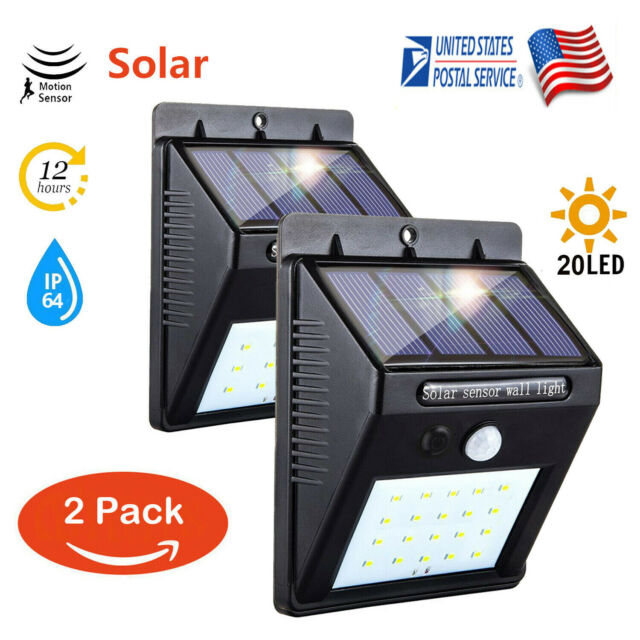 20 Led Solar Power Pir Motion Sensor Wall Light Outdoor Garden Waterproof Lamp And To Have A Long Life. Glow Party Supplies