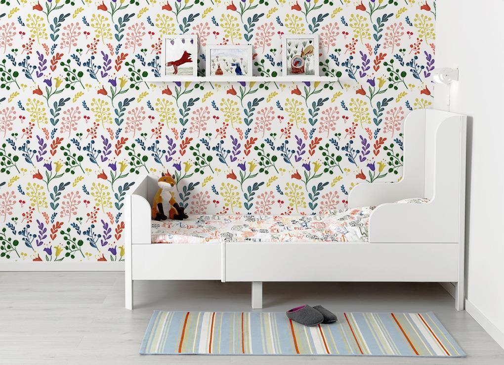 ColGoldt Flower Vines Wallpaper Mural Woven Self-Adhesive Decor Pattern T114