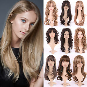 US-Hot-Long-Curly-Wavy-Highlight-Full-Wigs-With-Bangs-Blonde-Synthetic-Hair-Wig