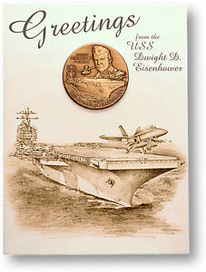 U-S-Navy-USS-Dwight-Eisenhower-CVN-69-Challenge-Coin-Card-Display
