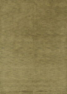 Contemporary-Plain-Gabbeh-Modern-Oriental-Hand-Knotted-6-039-x8-039-Green-Wool-Area-Rug