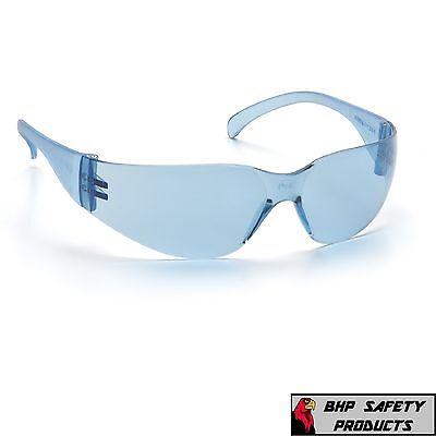 6 PAIR PYRAMEX ZTEK INFINITY BLUE SAFETY GLASSES