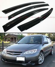 MUG STYLE JDM SMOKE WINDOW VISOR RAIN SHADE FOR 2001-2005 ES1 ES2 HONDA CIVIC 4D