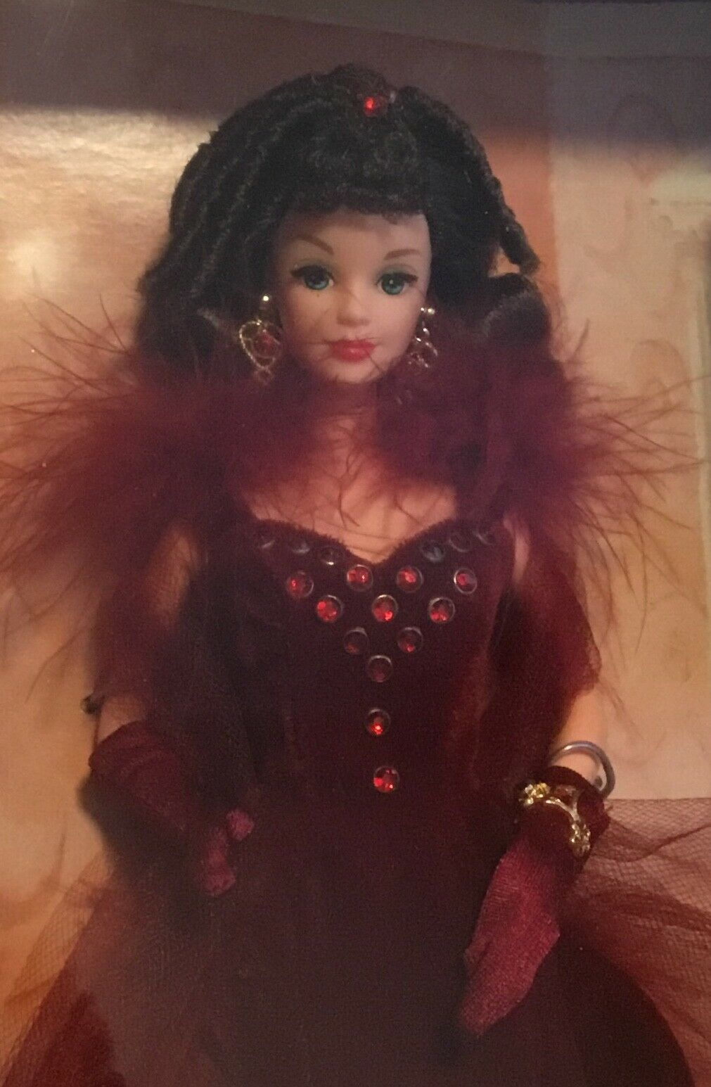 Hollywood Legends Gone with the Wind Wind Wind Scarlett O'Hara Barbie NRFB rot dress d7dc92