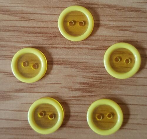 Color Botones de resina transparente tamaño 13mm-Ideal Bebé knits
