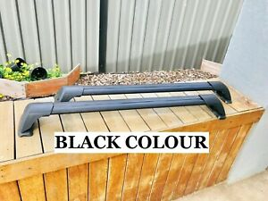2x BLACK Cross bar / Roof rack for Nissan Navara D40 ...
