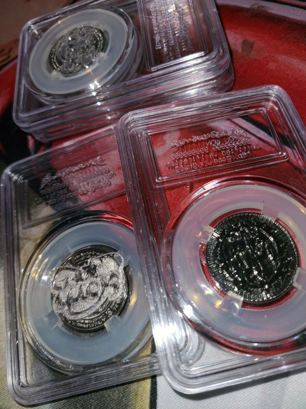 Bladee x Mechatok Good Luck Coin 💯😭 Drain Gang (Silver) 1X WITH SCRATCH TICKET