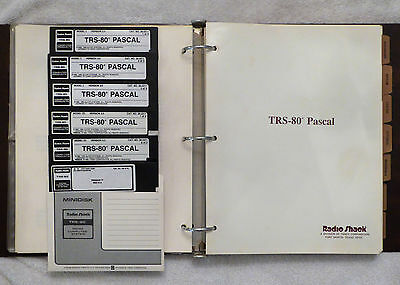 TRS-80 PASCAL Compiler  for Model I & III, Manual & Software tested, Cat 26-2211