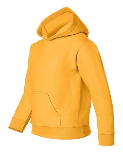 GILDAN YOUTH Size S-XL Heavy Blend Hooded Hoodie Fleece Sweatshirt Jumper 18500B