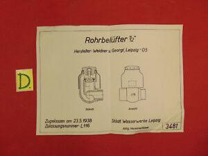Sonstige Schema Rohrbelüfter 1/2 Zugellasen Am 23.5.1938 Durchblutung GläTten Und Schmerzen Stoppen