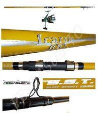 kit canna da pesca beach ledgering 4m lancio + mulinello sword surfcasting mare