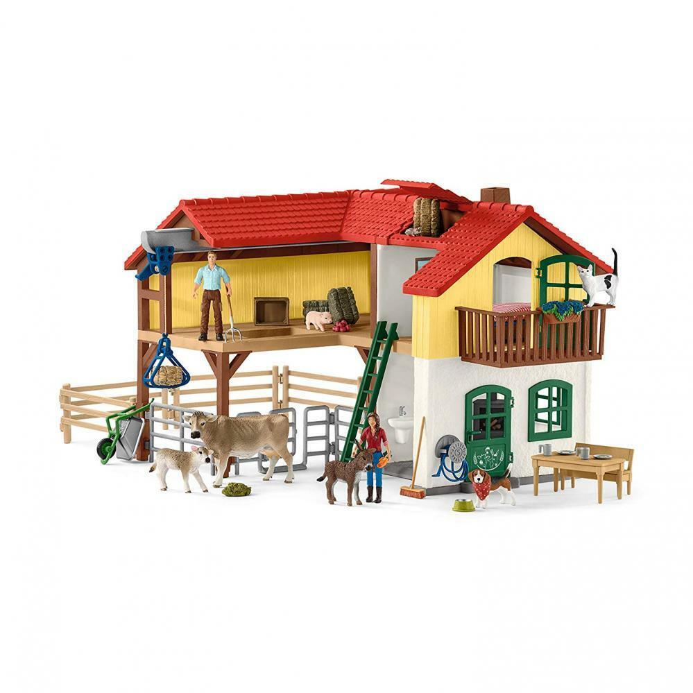 Kids Farm House Barn Play Set Toy Toddler Gift Boy Girl Animal Figures New