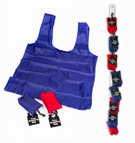 Tote reutilizable Compras Bolso en caso rojo o azul