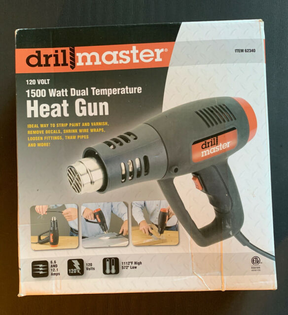 Drill Master 96289 1500 Watt Dual Temperature Heat Gun For