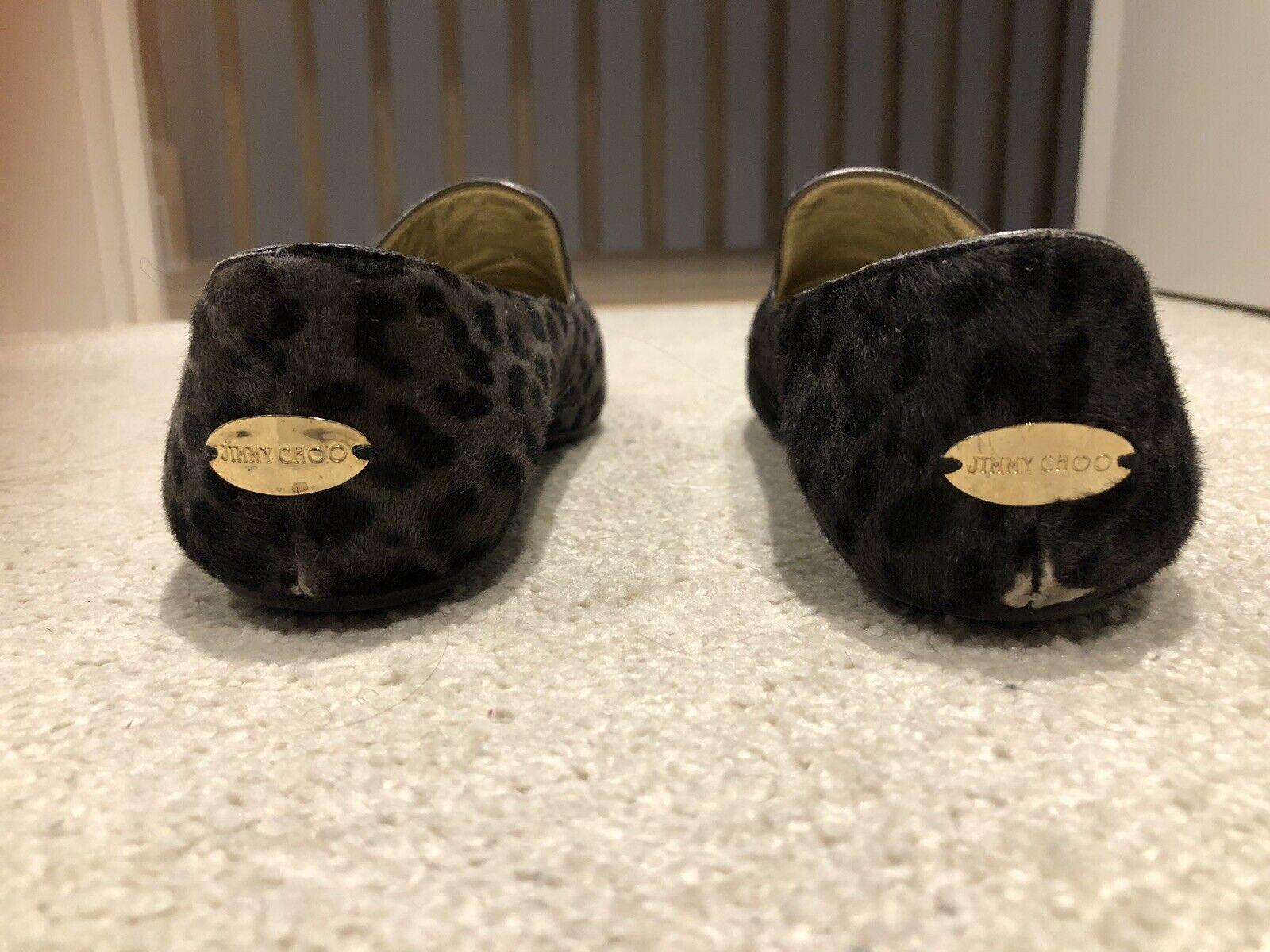 Jimmy Choo Loafer.  Size 36.5.  Leopard Print Style.