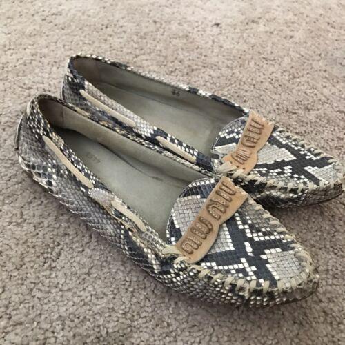 Vintage Miu Miu Snakeskin Loafers sz 6