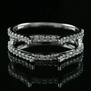 1.65 Ct.Tw Diamond Engagement Enhancer Wrap Band Ring In 10K White Gold Finish