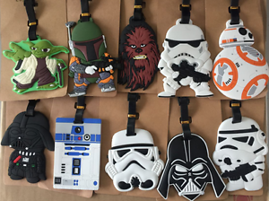 12 Style Star Wars BB-8 R2-D2 Darth Vader Yoda Stormtroopers Travel Luggage Tags