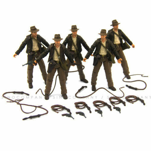 "Lot 5pcs INDIANA JONES RAIDERS OF LOST ARK JOINTED 3.75/"" FIGURE Hasbro toy gift"