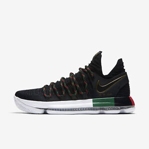 low priced ae07a 3c166 Details about NIKE ZOOM KD 10 BLACK HISTORY MONTH BLACK/WHITE/GREEN/RED MEN  SIZE 10 897817-003