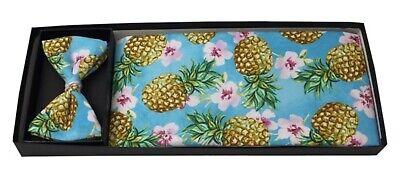 Ananas PARADISE Hawaiian Smoking Cummerbund BOW TIE SET NEW CBTR 01