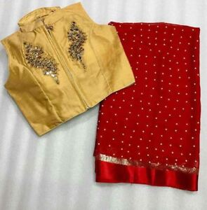 Readymade  georgette with embroidery work blouse also embroidery work