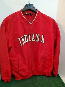 J2Sport-Mens-Large-Indiana-University-Pull-Over-Jacket-Windbreaker-Long-Sleeve