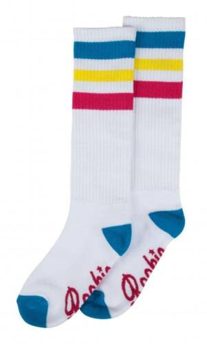 Rookie Classic Rollschuh-Socken Kniestrümpfe weiß-multi NEU 94683