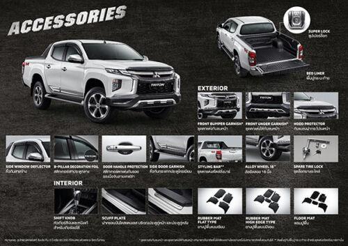 New 2019 Mitsubishi Triton L200 Front Under Cover lower Silver Lip Bumper Pick 4