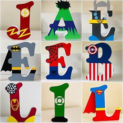 Superhero//Marvel 13cm Personalised Freestanding MDF Wooden Letters