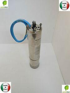 Motore-sommerso-HP-1-5-monofase-per-pompa-pozzi-4-034-UNIVERSALE-MADE-IN-ITALY-inox