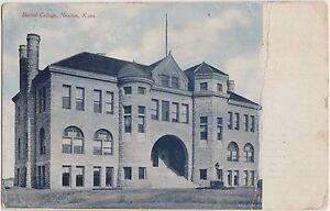 Kansas-Ks-Postcard-1908-NEWTON-Bethel-College-Building