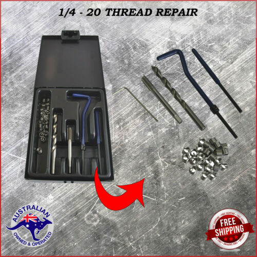 Helicoil Thread Repair Kit 1//4-20 Imerial Includes 25 Stainless Steel inserts