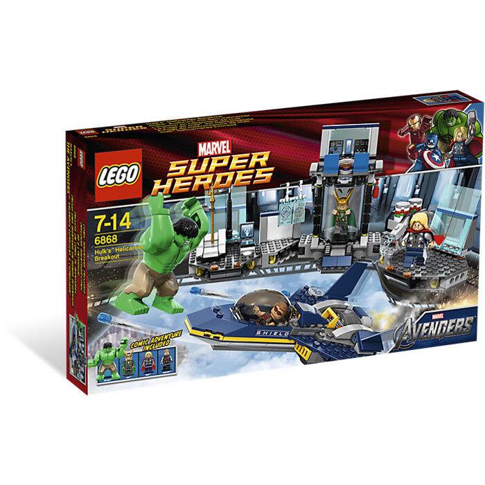 Lego® - Super  Heroes  6868 -  Hulk's Heliautorier Breakout   Rarissimo anno 2012   alta quaità
