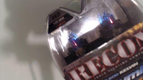 RECON 264H3PB H3 5600 Kelvin Headlight Bulbs Platinum Blue Bulb Xenon
