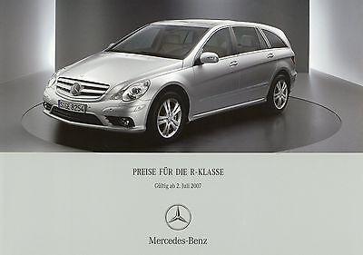 Aufrichtig Mercedes R-klasse Preisliste 2007 2.7.07 Price List Prijslijst Cennik Prislista Novel (In) Design;