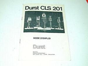 DURST CLS 201 notice 15x21 cm en français pour agrandisseur photo photographie