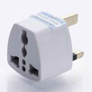 White-New-Eu-2-Pin-to-UK-3-Pin-Plug-Adaptor-Euro-EU-Travel-Mains-Adaptor
