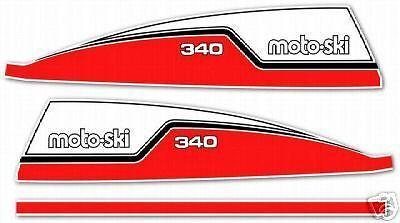 1974 MOTO-SKI MOTO SKI FUTURA 340 DECAL GRAPHIC KIT